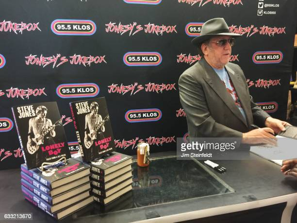 Steve Jones guitarist of the Sex Pistols signs his book at Book Soup in Los Angeles California on January 28 2017
