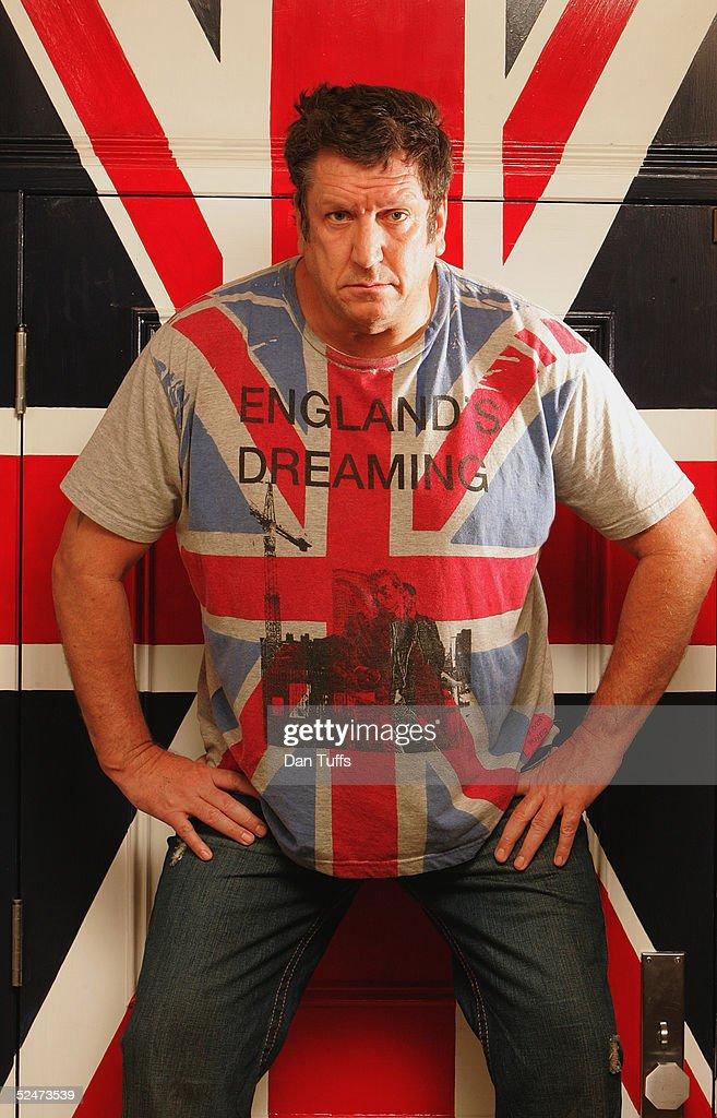 Steve Jones of the Sex Pistols in his house in Los Angeles on December 10, 2004.