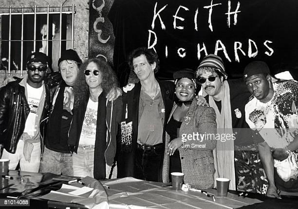 Steve Jordan Waddy Wachtel Bobby Keys Keith Richards Ivan Neville Babi Floyd Sara Dash and Charley Drayton