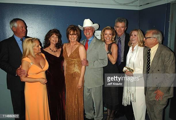 Steve Kanaly Charlene Tilton Mary Crosby Larry Hagman Sheree J Wilson Patrick Duffy Susan Howard and Ken Kercheval of 'Dallas'