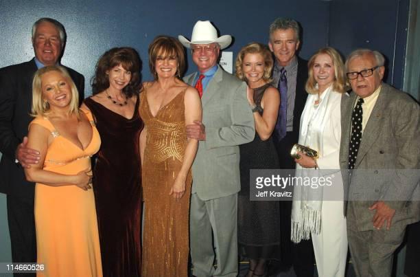 Steve Kanaly Charlene Tilton Mary Crosby Larry Hagman Sheree J Wilson Patrick Duffy Ken Kercheval and Susan Howard of 'Dallas'