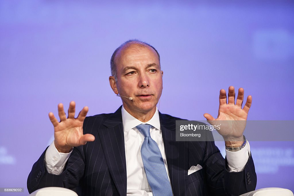 Steve Kandarian, chief executive officer of MetLife Inc., gestures whilst speaking during a panel session at the Institute of International Finance's Spring meeting in Madrid, Spain, on Tuesday, May 24, 2016. Attendees are hearing from experts from across the industry on the global and regional economic outlook, the global regulatory agenda, and the political landscape in Europe and the U.S. Photographer: Angel Navarrete/Bloomberg via Getty Images