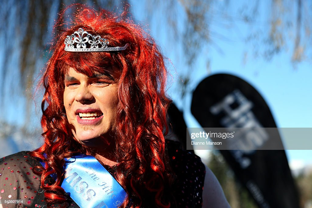 Steve Kay look on during the Downtown Day Drag race at the Queenstown Winter Festival on June 29, 2016 in Queenstown, New Zealand.