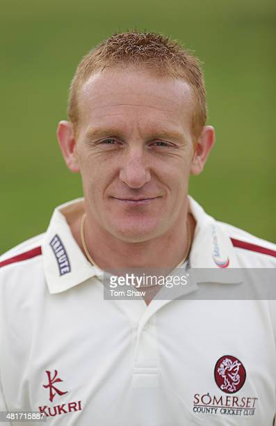 Steve Kirby of Somerset poses for a picture during the Somerset County Cricket Club Photocall at the County Ground on March 31 2014 in Taunton England