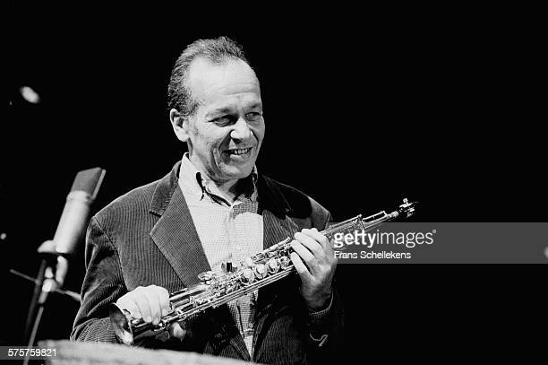 Steve Lacy soprano saxophone performs on February 26th 1994 at the BIM huis in Amsterdam Netherlands
