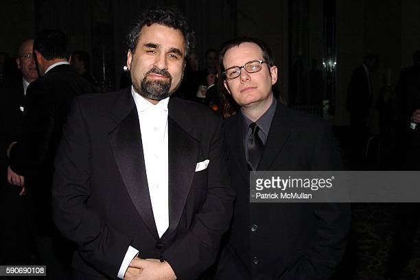 Steve Leeds and Tom Calderone attend The 20th Annual Rock and Roll Hall of Fame Induction Cocktail Room at Waldorf Astoria Hotel on March 14 2005 in...