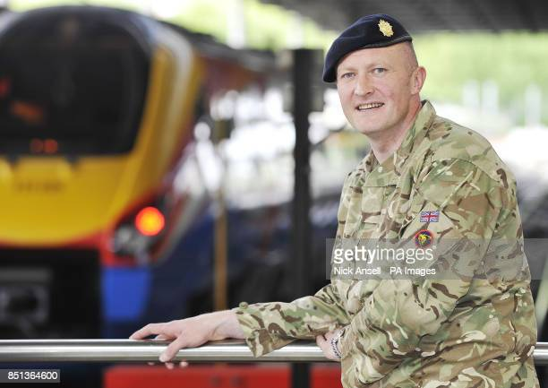 Steve Leyland a Lance Corporal in the Territorial Army 165 Port Regiment Royal Logistic Corp and a Route Manager for East Midlands Trains in his...
