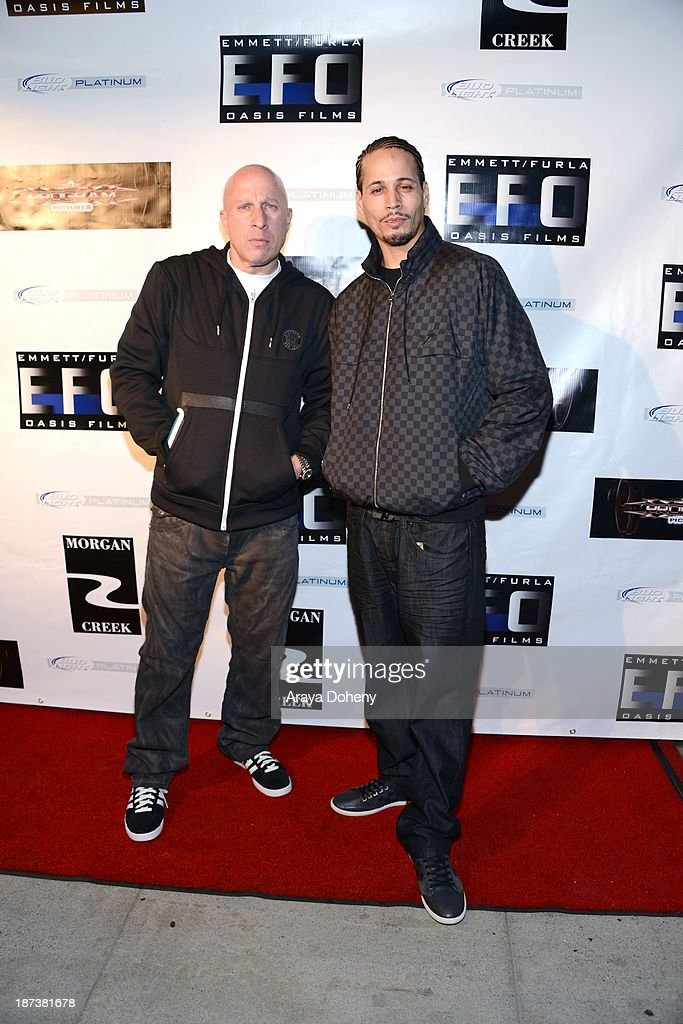 Steve Lobel and Andre Truth attend the Emmett/Furla/Oasis Films hosts celebration for the upcoming production of 'Tupac' at Zanzibar on November 7, 2013 in Santa Monica, California.
