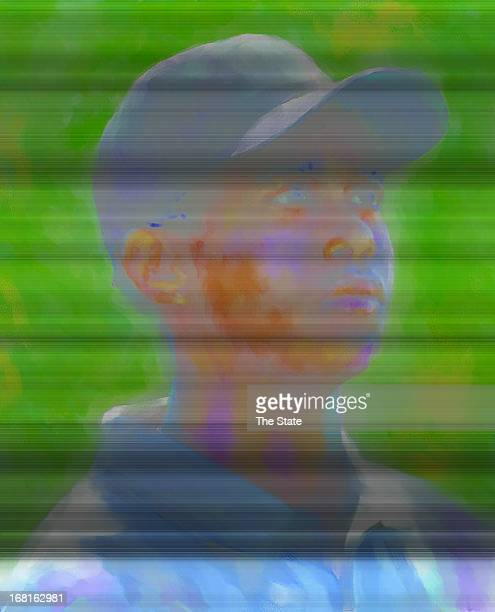 Steve Long color portrait of golfer Tiger Woods The State /MCT via Getty Images