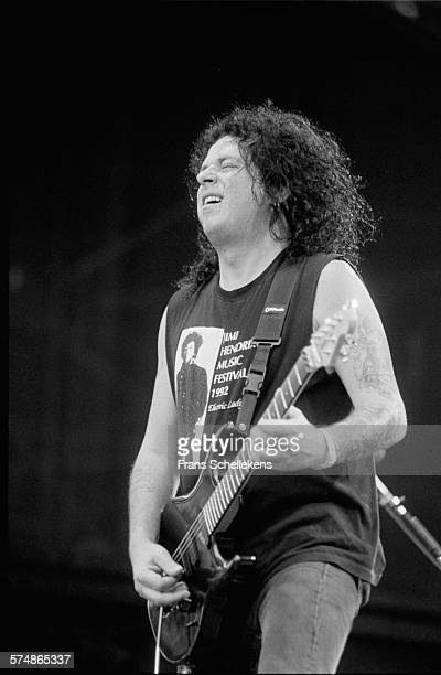 Steve Lukather guitar performs at Parkpop on August 21st 1994 in the Hague the Netherlands