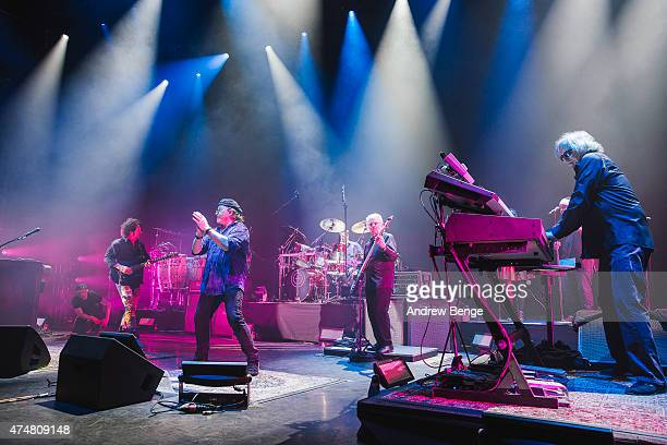 Steve Lukather Joseph Williams David Hungate and Steve Porcaro of Toto perform on stage at Eventim Apollo on May 26 2015 in London United Kingdom