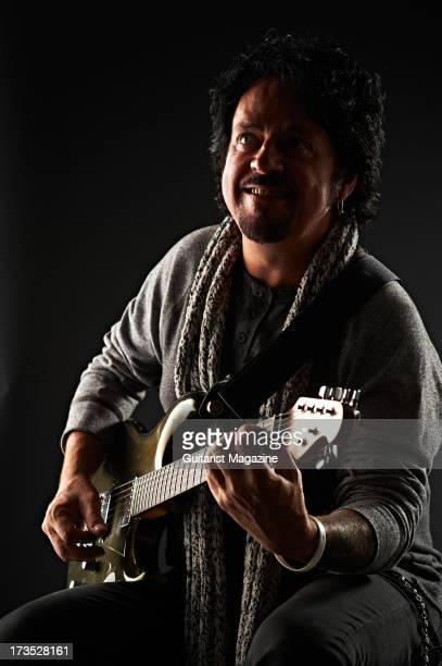 Steve Lukather lead guitarist of American rock band Toto photographed during a portrait shoot for Guitarist Magazine November 14 2012