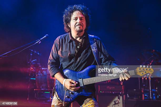Steve Lukather of Toto performs on stage at Eventim Apollo on May 26 2015 in London United Kingdom