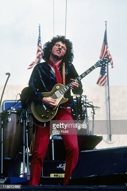 Steve Lukather performing with 'Toto' at the Los Angeles Coliseum in Los Angeles California on April 91979