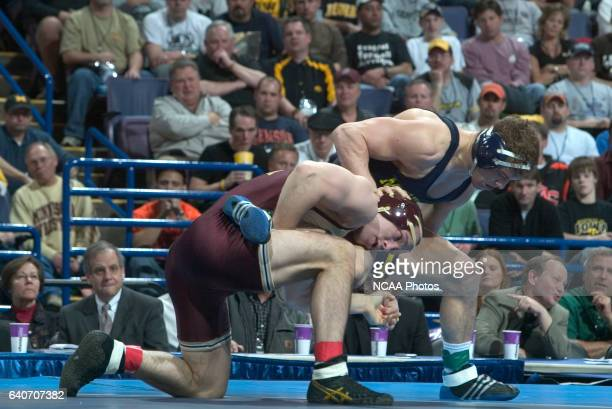 21 MARCH 2009 Steve Luke of the University of Michigan wrestles with Mike Miller of Central Michigan University during their 174 pound championship...