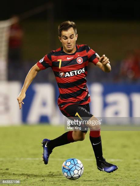 Steve Lustica of the Wanderers controls the ball during the AFC Asian Champions League match between the Western Sydney Wanderers and the Urawa Red...