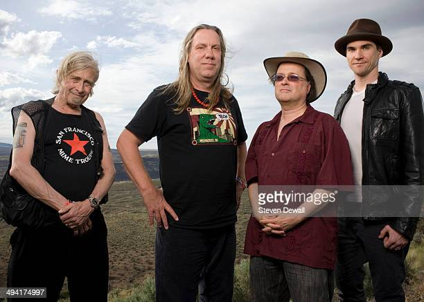 Steve MacKay Brian Ritchie Gordon Gano and Brian Viglione of the Violent Femmes pose for a portrait backstage on day 2 of Sasquatch Music Festival at...