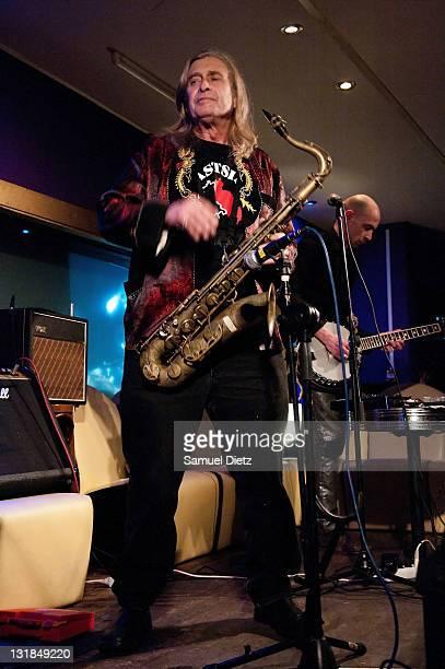 Steve MacKay performs at La Machine du Moulin Rouge on December 17 2010 in Paris France