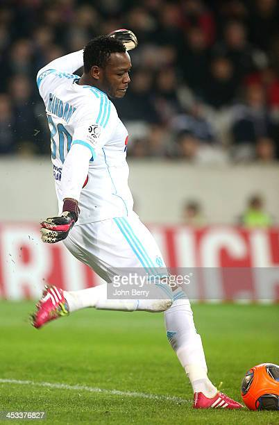 Steve Mandanda goalkeeper of OM in action during the French Ligue 1 match between Lille OSC and Olympique de Marseille OM at the Grand Stade Pierre...