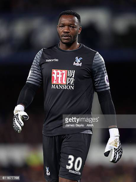Steve Mandanda of Crystal Palace during the Premier League match between Everton and Crystal Palace at Goodison Park on September 30 2016 in...