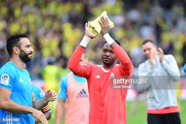 Steve Mandanda of Marseille after the Ligue 1 match between FC Nantes and Olympique Marseille at Stade de la Beaujoire on August 12 2017 in Nantes