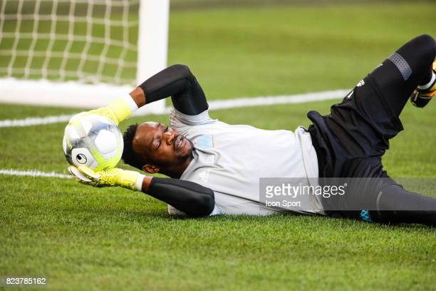 Steve Mandanda of Marseille before the UEFA Europa League qualifying match between Marseille and Ostende at Stade Velodrome on July 27 2017 in...