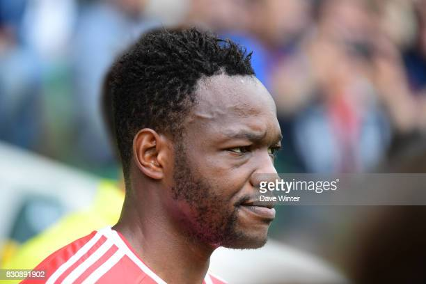 Steve Mandanda of Marseille during the Ligue 1 match between FC Nantes and Olympique Marseille at Stade de la Beaujoire on August 12 2017 in Nantes