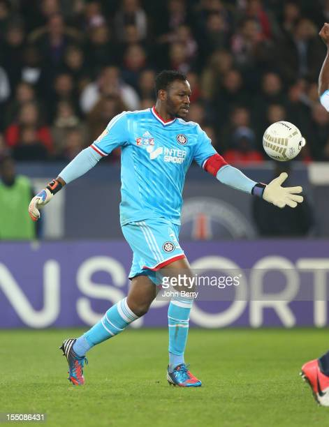 Steve Mandanda of Olympique de Marseille in action during the french eightfinals League Cup match between Paris Saint Germain PSG and Olympique de...