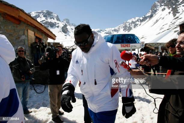 Steve MANDANDA Retour du Glacier Stage de l'Equipe de France avant la Coupe du Monde 2010 Tignes France