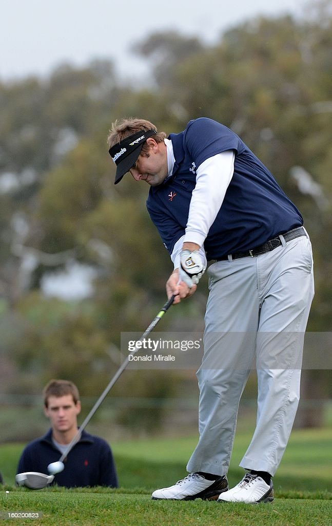 Steve Marino hits off the tee box during the Third Round at the Farmers Insurance Open at Torrey Pines South Golf Course on January 27, 2013 in La Jolla, California.