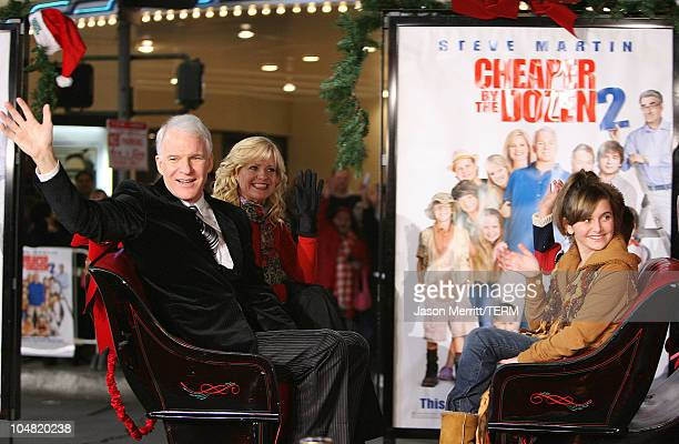 Steve Martin and Bonnie Hunt during 'Cheaper by the Dozen 2' Los Angeles Premiere Arrivals at Mann Village Theatre in Westwood California United...