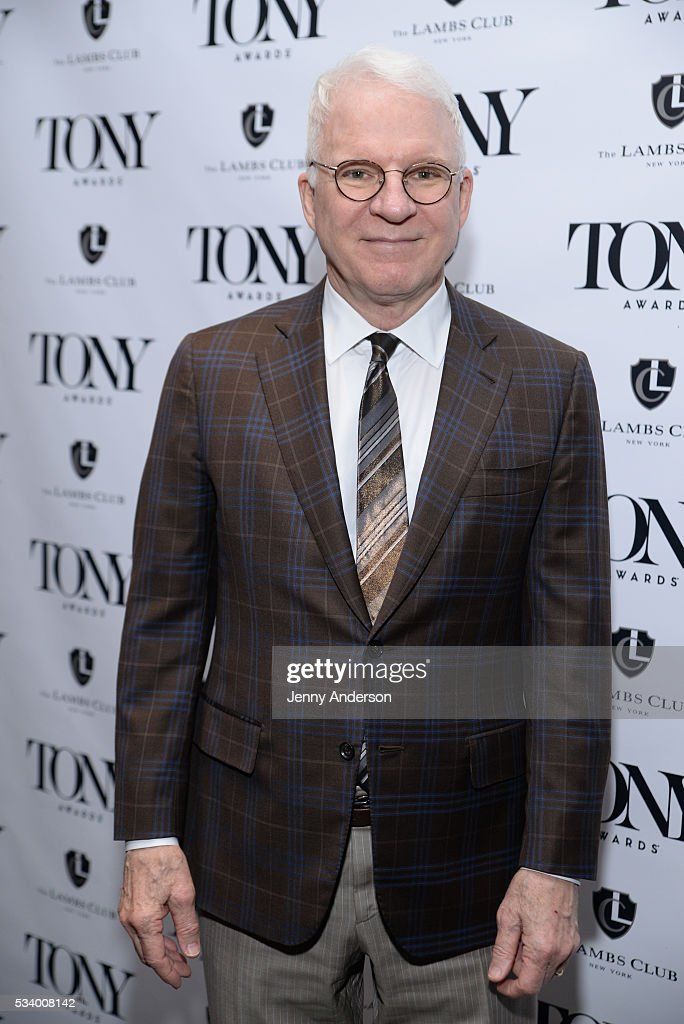 Steve Martin arrives at A Toast To The 2016 Tony Awards Creative Arts Nominees at The Lambs Club on May 24, 2016 in New York City.
