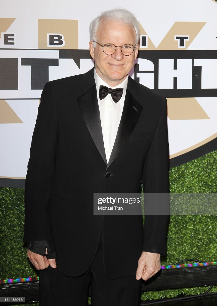 <a gi-track='captionPersonalityLinkClicked' href=/galleries/search?phrase=Steve+Martin+-+Comedian&family=editorial&specificpeople=196544 ng-click='$event.stopPropagation()'>Steve Martin</a> arrives at Celebrity Fight Night XIX held at JW Marriott Desert Ridge Resort & Spa on March 23, 2013 in Phoenix, Arizona.