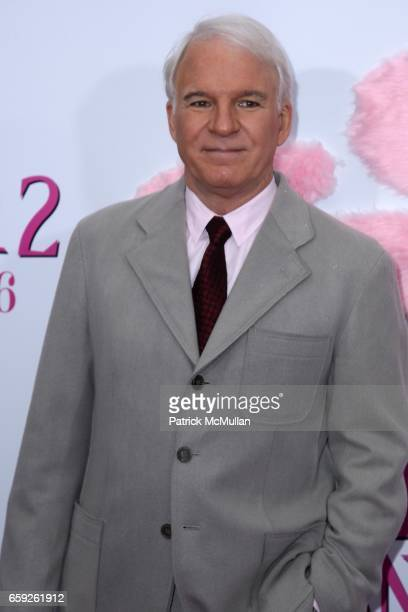 Steve Martin attends COLUMBIA PICTURES and MGM Present the World Premiere of THE PINK PANTHER 2 at Ziegfeld Theatre on February 3 2009 in New York...