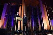 Steve Martin David Letterman speak onstage during The 75th Annual Peabody Awards Ceremony at Cipriani Wall Street on May 21 2016 in New York City