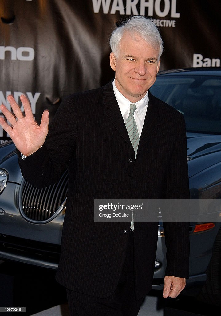 <a gi-track='captionPersonalityLinkClicked' href=/galleries/search?phrase=Steve+Martin+-+Comedian&family=editorial&specificpeople=196544 ng-click='$event.stopPropagation()'>Steve Martin</a> during Angeleno Magazine & Jaguar Sponsor VIP Gala Honoring Dennis Hopper and Opening the Andy Warhol Retrospective at MOCA at The Museum of Contemporary Art in Los Angeles, California, United States.