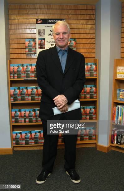 Steve Martin during Steve Martin Book Signing for 'The Pleasure of My Company' at Borders Books in Westwood California United States