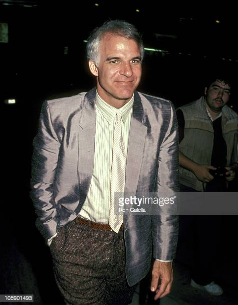 Steve Martin during Steve Martin Sighting at Spago's Restaurant in Hollywood August 2 1983 at Spago's Restaurant in Hollywood California United States