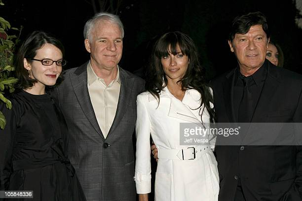 Steve Martin Robbie Robertson and guests during Giorgio Armani Prive in LA Inside at Green Acres in Los Angeles California United States