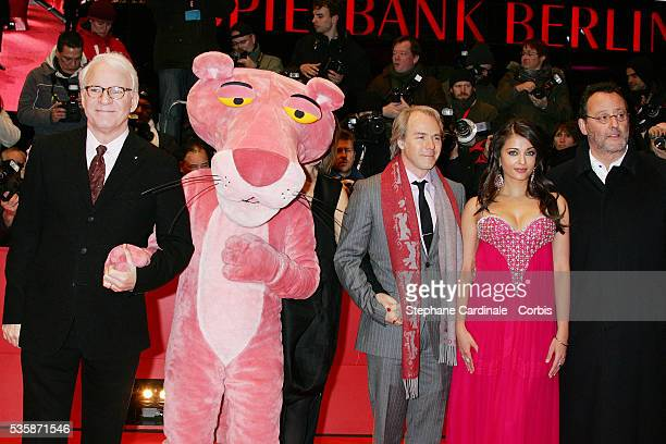Steve Martin 'The Pink Panter' Harald Zwart Aishwarya Rai Bachchan and Jean Reno attend the premiere of 'The Pink Panther 2' during the 59th annual...