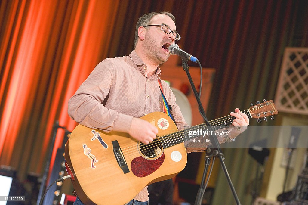 Steve Mason performs at the press launch for Latitude Festival 2013 at BBC Maida Vale Studios on March 19, 2013 in London, England.