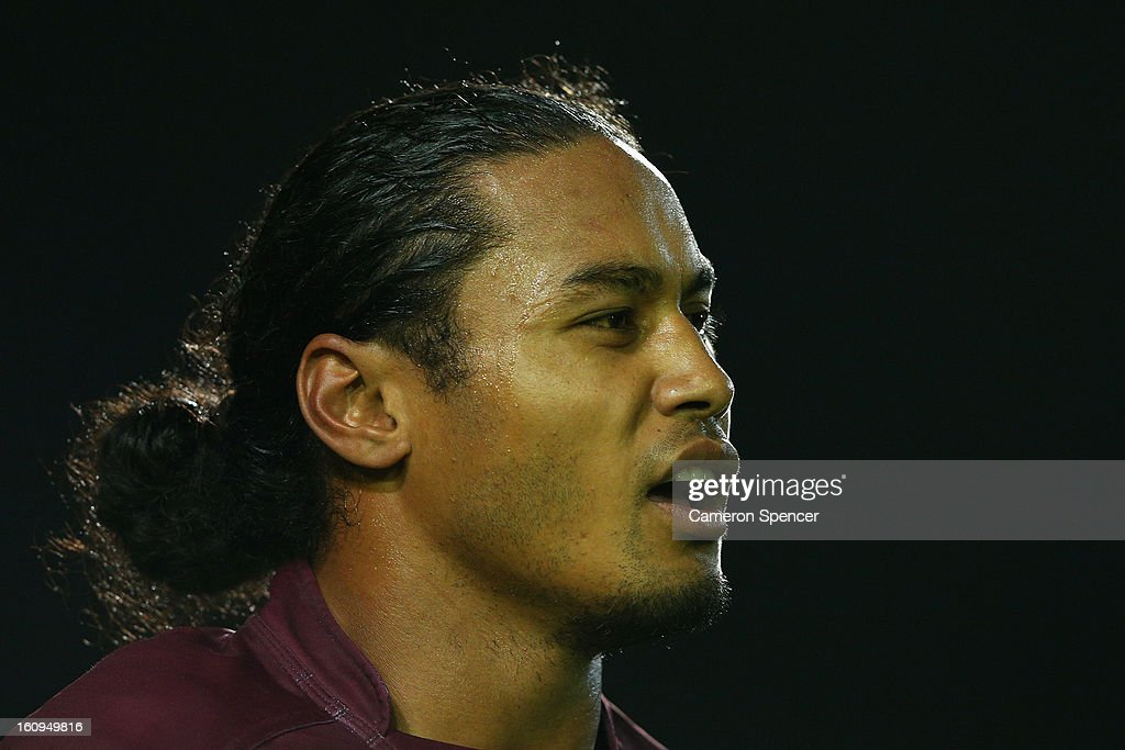 Steve Matai of the Sea Eagles looks on during the NRL trial match between the Manly Sea Eagles and the Cronulla Sharks at Brookvale Oval on February 8, 2013 in Sydney, Australia.