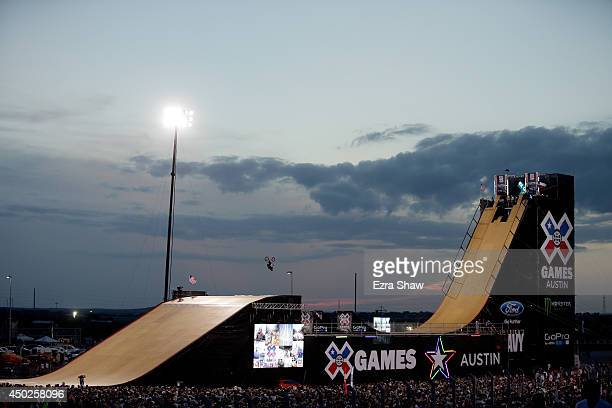 Steve McCann of Australia warms up for the BMX Big Air Finals during the X Games Austin at Circuit of The Americas on June 7 2014 in Austin Texas