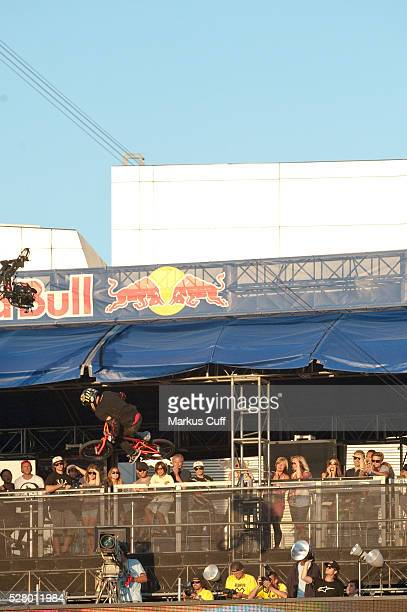 Steve McCann takes the gold in his final round at X Games 2012 BMX Freestyle Big Air in Los Angeles Ca