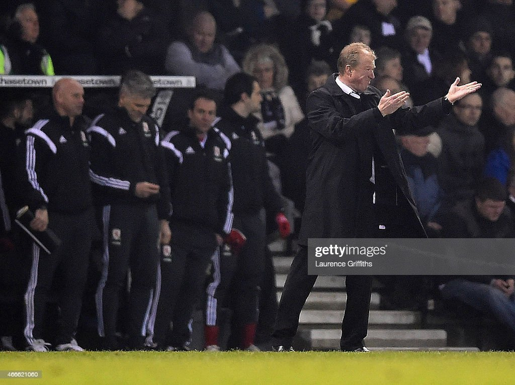Steve McClaren, manager of Derby on the touchline during the Sky Bet Championship match between Derby County and Middlesbrough at iPro Stadium on March 17, 2015 in Derby, England.