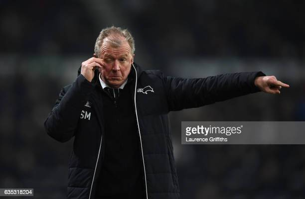 Steve McClaren of Derby County shows his dissapointment during the Sky Bet Championship match between Derby County and Cardiff City at iPro Stadium...