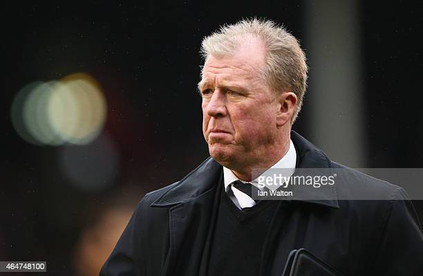 Steve McClaren the manager of Derby during the Sky Bet Championship match between Fulham and Derby County at Craven Cottage at Craven Cottage on...