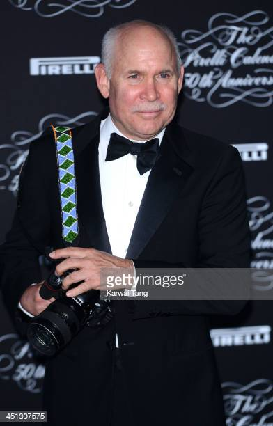 Steve McCurry arrives for Pirelli's 50th anniversary Gala dinner held at HangarBicocca on November 21 2013 in Milan Italy