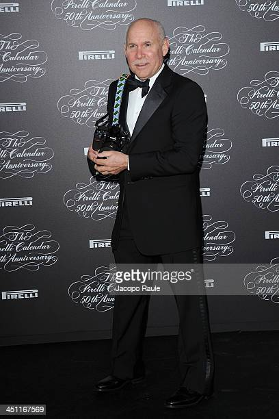 Steve McCurry attends The Pirelli Calendar 50th Anniversary Red Carpet on November 21 2013 in Milan Italy