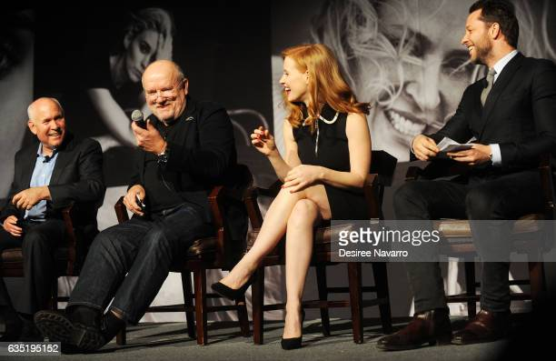 Steve McCurry Peter Lindbergh Jessica Chastain and Derek Blasberg attend The Pirelli Calendar Presents Peter Lindbergh On Beauty at Cipriani Wall...